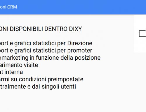 DIXY Funzioni CRM