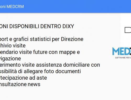 DIXY Funzioni MEDCRM